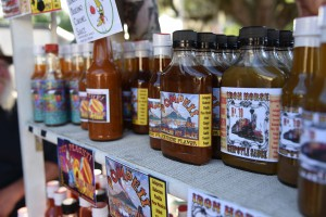 Di Vito has a custom display stand to showcase all the different varieties of sauce, but it all began with one type that he designed to complement the pork produced by his family's farm.