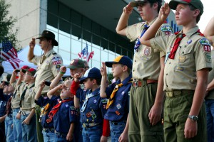Boy Scout Flag Saluteat Gerald R. Ford MuseumBoy Scout Flag Salute at Gerald R. Ford Museum.