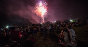 The finale kicked off shortly before 10 p.m. and for many launched the holiday weekend. (Will England/WUFT News)