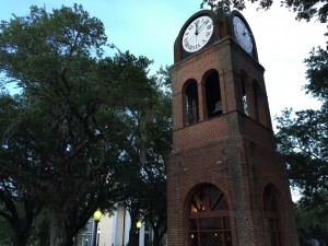 The downtown clock has frozen in time. Currently the city is reviewing all avenues to resolve the problem but does not have a time table yet for the clock to start ticking again.