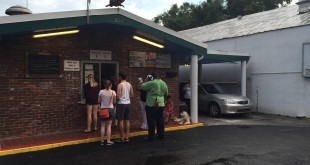 Guests wait in line at Wholly BBQ Café during the Original Gainesville  Food Truck Rally held on July 25. According to the restaurant's operations manager   Richard Lugo, daily business doubles on the day of the monthly rally.