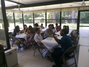 Members of St. Elizabeth's parish gather together for a meal after a Sunday morning service. The weekly meals after church serve as a perfect example of the diversity of the local Greek community.