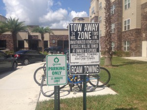 Parking is a huge problem at The Grove apartment complex, and many complaints center around the practice of towing companies roaming to find illegally parked cars.