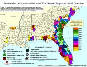 Regional Infestation Map - September 11, 2015