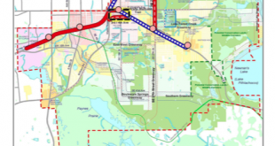 This Plan East Gainesville map shows the area of town that the USDA has designated as a food desert - where residents' access to fresh, affordable food is limited.