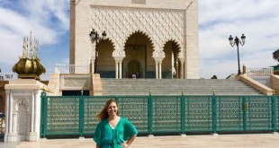 University of Florida International Studies senior Gillian Shaw stands in front of a Moroccan King's Mausoleum, Muhammad V, in Rabat, Morocco. Shaw, 20, said she went to Morocco this summer for the language aspect. She is fluent in English, Spanish, French and Arabic. Photo courtesy of Ashley Inman