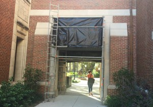 University of Florida's Heavener Hall is getting three new quotes added to its western arch in the courtyard.