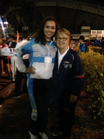 Cesia Salan, left, poses with personal coach