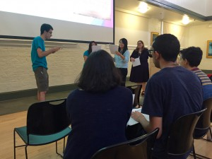 A student acts out ways to stop sexual violence in Bystander Intervention class. The class is part of University of Florida's Sexual Trauma/Interpersonal Violence Education program, and it teaches students what to do if they witness sexual violence against others.