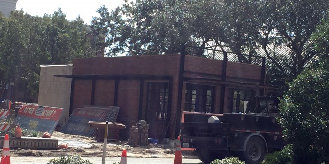 Construction continues for the space where the new restaurant will go. Three entrepreneurs submitted proposals for restaurants they wish to open.