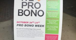 The UF Levin College of Law is hosting its very first Pro Bono Week on Oct. 24-31, promoting the importance of providing access to justice for various clients that need help and cannot get it otherwise.