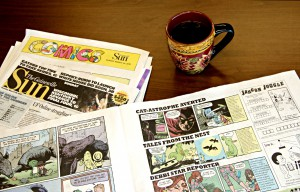 "More than 31,000 copies of the annual report comics were distributed through the Gainesville Sun on Sunday, March 29 and other locations. ""It's a piece of art,"" Nathalie McCrate said. ""It's something you want to keep and hold onto."" Photo Courtesy of GCRA."