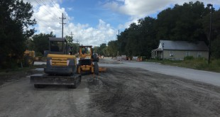 Improvements are being made to Depot Avenue, but some fear that the cement dust being stirred up as a result can pose respiratory problems for residents.