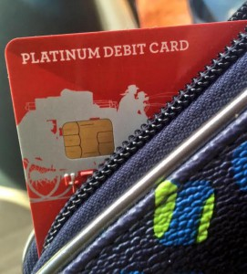 Chip-enabled credit card. Taylor Trache / WUFT News