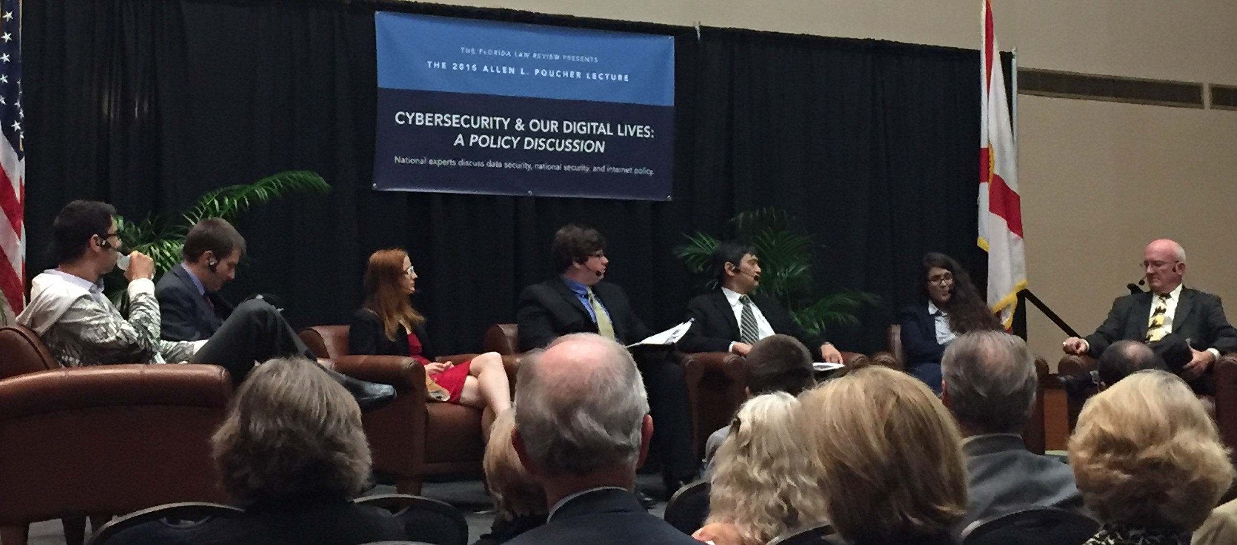 Cybersecurity Discussion Raises Concern For Experts Wuft News Electrical Engineering 4 Year Plan Ucf Third Uf Law Student Trace Jackson Middle Moderates While Panelists Discuss