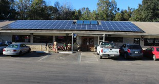Solar panels installed by ECS Solar Energy Systems provide Pearl Country Store with  about 30 percent of its electricity. (Lindsay Alexander/WUFT News)