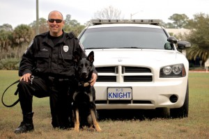 Sergeant Brad Litchfield and K-9 KNIGHT