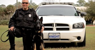 Sergeant Brad Litchfield and K-9 KNIGHT