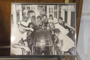 Wilson-Graham said this photo on display in the Black History Museum of Marion County is what gave her the initial idea for the book. The Black History Museum of Marion County is in the Howard Academy Community Center in Ocala, Florida. Howard Academy used to be a school for minorities, Wilson-Graham said. Photo credit: Lindsay Alexander Photo Courtesy of the Black History Museum of Marion County.