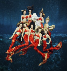 The mermaids of the Weeki Wachee Springs State Park pose underwater after a performance. The mermaid show is one of the most popular attractions in Hernando County and has attracted almost 400,000 visitors in the past fiscal year. Photo courtesy of Tammy Heon.