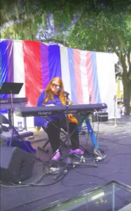 A performance takes place on stage at the 2015 Pride Days in downtown Gainesville. Fleming rented a stage from local event services company Bunt Backline, which cost $1,235, and lights at $800, he said. Courtesy of Terry Fleming.