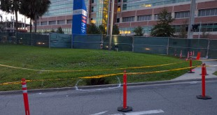 A sinkhole opened outside UF Health Shands. (Courtesy of Scott Harris)