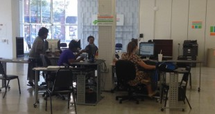The North Central Florida staff adjusts to its new location, which opened on Monday in downtown Gainesville. CareerSource NCFL helps residents of Alachua and Bradford counties find jobs. Ariana Brasman / WUFT News