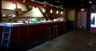 The new bar at the Hardback Cafe, on the top level of the venue with a patio overlooking University Avenue, is almost completed. The bar will serve local beer and Sweetwater Coffee. (Kirsten Chuba / WUFT News)