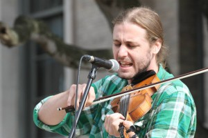 Eli Tragash playing the fiddle. He was a judge for the Longleaf Pine Youth Fiddle contest this past weekend. Photo courtesy of Eli Tragash.