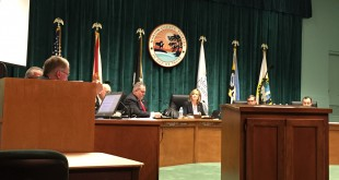 Commissioner Kathy Bryant discusses the fate of the sales tax initiative with the Marion County Board of County commissioners. If approved, the sales tax in the county will increase by one percent and potentially affect members in the community. (Edwin Exaus / WUFT News)