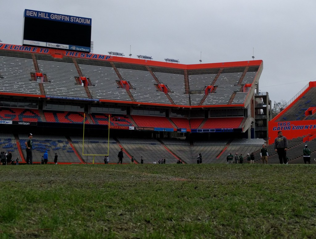 Can groundskeepers use urine to help keep Florida Field fertilized and green?