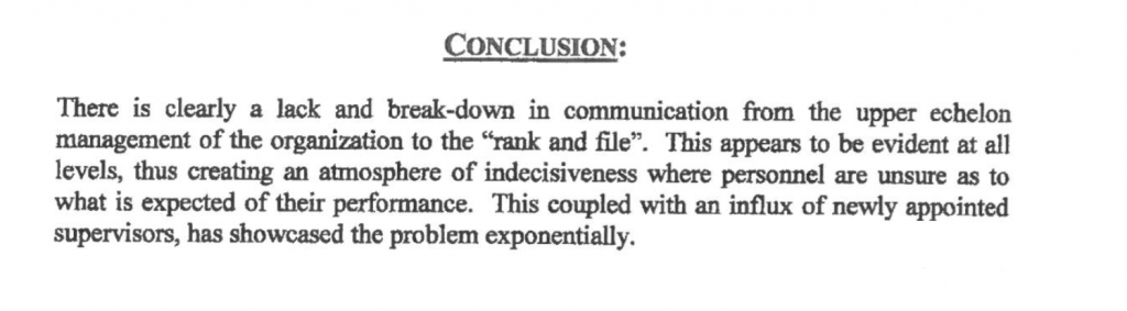 GPD investigation conclusion