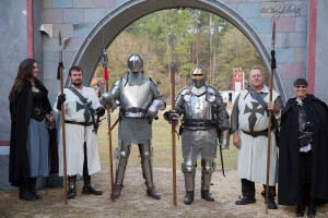 Knights and squires are part of the Hoggetown Medieval Faire, which celebrates its 30th anniversary Jan. 30-31 and Feb. 5-7. (Photo courtesy of Gainesville Parks, Recreation and Cultural Affairs Department)