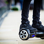 After a series of incidents in which hoverboards - electronic skateboards - burst into flames, the University of Florida joined more than 30 other colleges and universities in issuing a ban on them in resident halls. Photo by Ben Larcey/Creative Commons