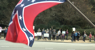 Tallahasee confederate flag protest 1