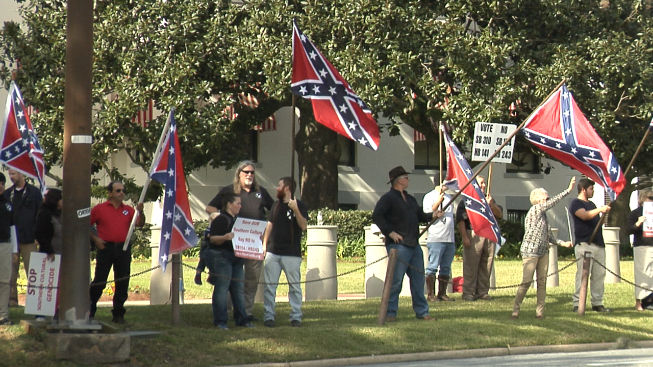 Tallahasee confederate flag protest 2