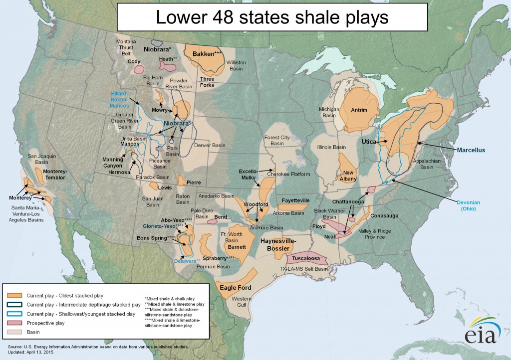 United States shale_gas plays