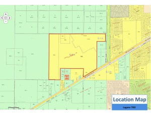 A map showing the area of Lugano, a traditional neighborhood development on Archer Road. Courtesy of Alachua County Growth Management.