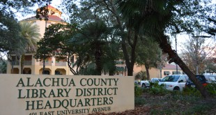 The Alachua County Headquarters Library celebrated its 25th anniversary on Monday. Although technology is advancing and people are shying away from paper books, director Shaney Livingston said the library is still thriving. (Melissa Smith/WUFT News)