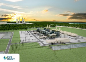 A rendering shows how Duke Energy's planned natural-gas plant will look. (Image courtesy of Duke Energy)