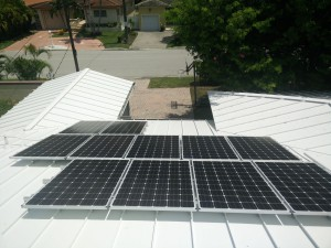 Daniel Dietch, Mayor of Surfside, used the PACE system to fund his roof and solar panel system, seen here, in 2015. (Photo courtesy of Daniel Dietch)