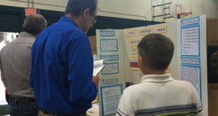The Westwood Middle School Science Fair was held on Dec. 10. Students competed for spots at the Alachua Regional Science Fair. (Photo courtesy of Maureen Shankman)