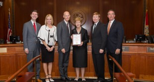 Florida Gov. Rick Scott and Champion of Service Award