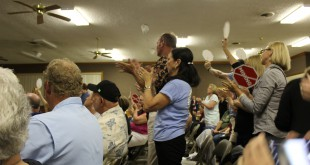 Many residents of Union County are outraged over a proposed phosphate mine. The Board of Commissioners will vote on permits later this month. (Martin Vassolo/WUFT News)
