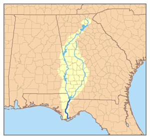 The ACF River Basin is the watershed of the Apalachicola, Chattahoochee and Flint rivers.