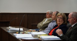 From left: Bill and Levin Gatson with attorneys Patrice Boyes and Kent Safriet at WRR and GREC's court hearing at the Alachua County Family and Civil Justice Center on April 11.