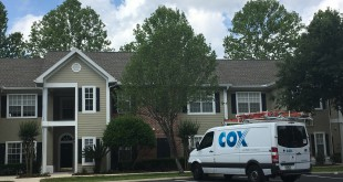 Cox Communications technicians have been out trying to repair cable signal equipment in the Links neighborhood