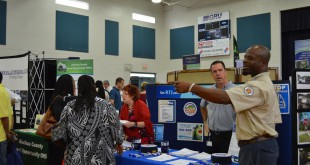 Gainesville Regional Transit System employees talk with job seekers at the 2015 City of Gainesville Job Fair. The 2016 event is set for Tuesday, April 26, from 10 a.m. to 3 p.m. at 10 NW Sixth St. (Photo courtesy CareerSource of North Central Florida)