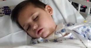 Shawn Zuzio, 5, is recovering from an infection at Childrens Hospital Colorado in Denver after being life-flighted from Kansas. His mother, Dawn, was driving the family from Florida to Colorado to move there in hopes that getting medical marijuana would ease Shawn's suffering from seizures.