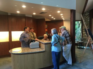 The center's reception area, auditorium and restrooms were updated to become more ADA compliant. Chloe Equizi/ WUFT News